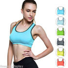 FL Women Yoga Fitness Stretch Workout Tank Top Racerback Padded Sports Bra