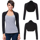 Fashion Womens Long Sleeve Modal Bolero Shrug Cropped Cardigan Jacket Coat New