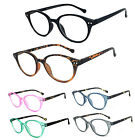 Retro Round Keyhole Reader Reading Glasses Silver Rivets Spring Hinges RE79