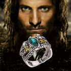 Lord Of The Rings Jewelry Aragorn's Ring Of Barahir Platinum Plated Mens 6-10