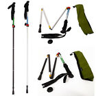 5-Section Folding Alpenstock Sticks Trekking Pole Lock Climbing Waliking NH