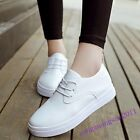 Lace Up Women Shoes Pu Leather 2016 New Stylish Autumn Sneakers Round Toe Casual