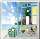BEACH HOUSE PORCH OCEAN FRONT LIGHT SWITCH COVER PLATE U PICK PLATE SIZE