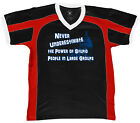 Never Understimate The Power Of Stupid People in Groups Retro Sport T-shirt