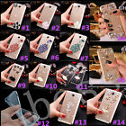Bling Crystal Gems Diamonds Thin Clear Soft Back Shell Case Cover For Samsung #C