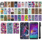For Samsung Galaxy Note 4 N910 PATTERN HARD Back Case Phone Cover + Pen