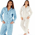Ladies Pyjama Set Cotton Blend Button Front Polar Bear Collared Pajamas Pjs 305