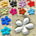 1200pcs 10mm Flatback Flower Rhinestone Bling Gem Scrapbooking