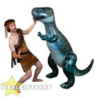 GIANT INFLATABLE DINOSAUR TALL BLOW UP OUTDOOR TOY BEACH POOL PARTY + CAVEMAN