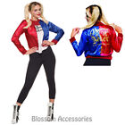 CL966 Suicide Squad Ladies Deluxe Harley Quinn Top Harley Quinn's Jacket Costume