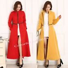 New Fashion Women's Lady Long Maxi Slim Wool Blend Jackets Trench Coats Overcoat