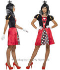 4-22 Queen of Hearts Costume Crown Ladies Fancy Dress Outfit Alice In Wonderland