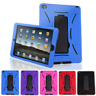 Heavy Duty Hybrid Military Shockproof Hard Case Cover Stand for Apple iPad-Air 2