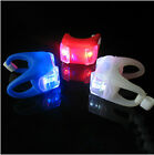 2 x Rear Bike Light Silicone 2-LED Frog Bicycle Front Light Safety Warning Lamp