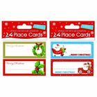 24 x Christmas Xmas Place Cards Table Name Settings – 2 Designs to Choose