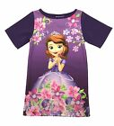 Disney Princess Sofia Casual Party Dress Long Tunic Top Summer Beach Girls Size