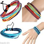 1PC BD Women Multicolor Wax Strings Hand-woven Rope Hand Rope Bracelet Bangle