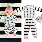 Newborn Infant Baby Girl Boy Clothes Feather Tops T-shirts Pants Hat Outfits Set