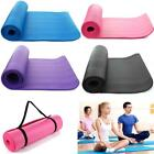 Extra Thick Non-slip 15mm Yoga Mat Pad Cushion Exercise Fitness Pilates w/ Strap