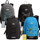 TRAILMAKER SPORT Hiking Travel School Backpack BookBag w/ Bungee Cord Pocket new