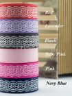"Grosgrain Ribbon Lace Imitation 10mm/16mm/25mm/38mm 3/8"" 5/8"" 1"" 1-1/2"""