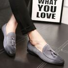 New Mens Oxfords Suede Leather Slip On Dress Tassels Casual Oxfords Shoes Loafer