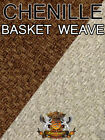 "Chenille Solid Basket Weave Fabrics / 59"" Wide /Sold by the yard"