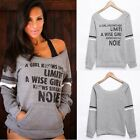 Fleece Sexy oblique Hoodie Natural Color Pocket Long Sleeve womer Strapless B20E