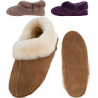 Lambland Ladies Sheepskin Turn Slipper with Soft Sole - Chestnut, Mink, Plum