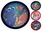 Boys Girls Character Round Wall Clock Kids Bedroom Accessory Gift Childrens