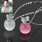 1 x Fashion Women Lady Clavicle Necklace with apple Opal Pendant Jewellery