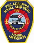 PENNSYLVANIA  -  PHILIDALEPHIA  NAVAL  SHIPYARD   FEDERAL  FIREFIGHTER    Patch