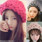 FL New Women Beanie Winter Crochet Braided Knit Cap Girl Twist Hat