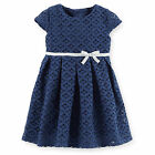 Carters Newborn 3 Months Lace Dress Baby Girl Clothes Blue Party Holiday