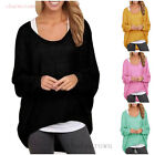 New Fall Women Casual Long Sleeve Asymmetric Sweatshirt Blouse Pullover Tops Hot
