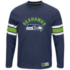 Men's Seattle Seahawks Majestic Power Hit Long Sleeve T-Shirt
