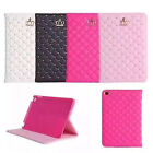 1pc Novel Crown Bling Crystal Magnetic PU Leather Cover Case for Ipad Pro 12.9''