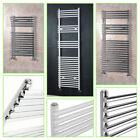Kudox White & Chrome Bathroom Bar on Bar Heated Towel Radiator Rack Rails