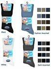3 Mens No Non Elastic 100% Cotton Loose Wider Top Socks UK 6-11