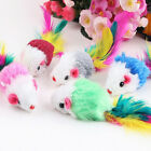 Comfortable Fleece False Mouse Cat Toys Colorful Feather Funny Playing Toy Cute