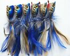 6 X High Quality Medium Surf Poppers Fishing Lure, Blue Laser Colour, Tackle!!!