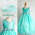 Adorable Aqua Pool blue graduation recital flower girl party dress all sizes