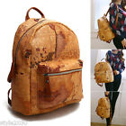 Womens Backpack Satchel travel World Map School Bag Rucksack Faux Leather