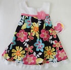 Youngland 6-9 Months Multi Floral Print Sleeveless Dress Baby Girls Clothing