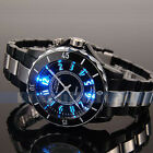 OHSEN Luxury Men's LED Black Stainless Steel Analog Sport Military Wrist Watch