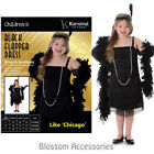 CK851Girls Black Flapper 1920s Charleston Chicago Gatsby Fancy Dress Up Costume