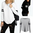 Women Casual Tops New T-Shirt Loose Fashion Blouse Cotton Blouse Long Sleeve AS