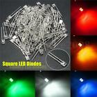 100pcs 2x3x4mm Square White Red Green Yellow Water Clear LED Diodes Light Kit