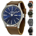 Nixon Sentry Leather Strap Mens Watch