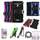 Phone Case For Alcatel Fierce 4 MetroPCS Holster Cover USB Charger Film Stylus